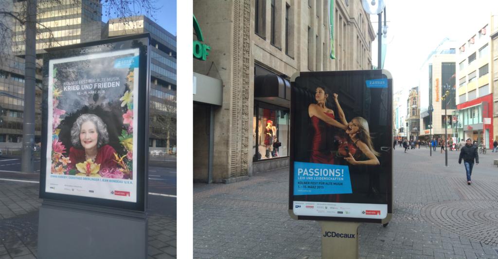 Citylights-Plakate zum Kölner Fest für Alte Musik