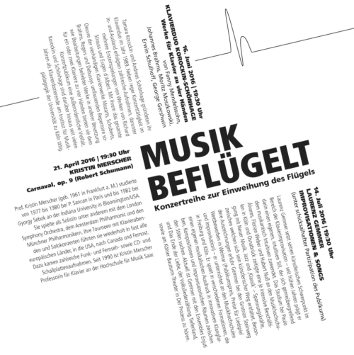 Flyer für die Veranstaltungsreihe Human Sounds