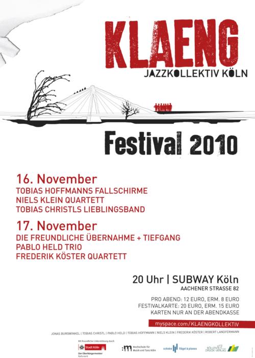 Plakat für das Klaeng Jazzkollektiv