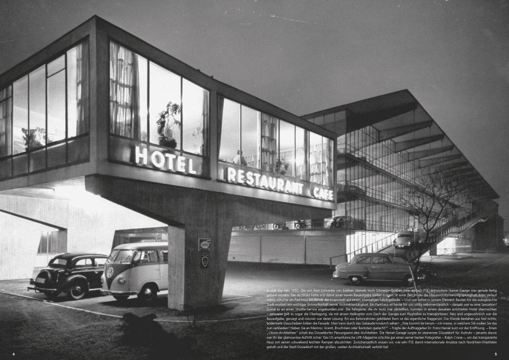 """Doppelseite aus Magazin zur Ausstellung """"Paul Schneider von Esleben – Das Erbe der Nachkriegsmoderne"""""""