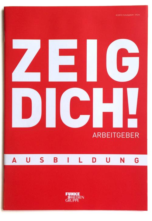 Titel des Magazins ZEIG DICH Arbeitgeber