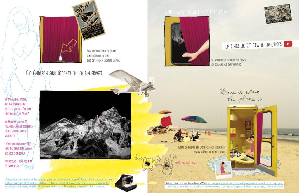"""Collage für das zamus Magazin zum Thema """"Privater Friede"""""""